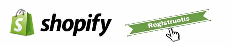 Elektroninė parduotuvė Shopify