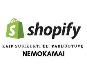 Shopify parduotuvė