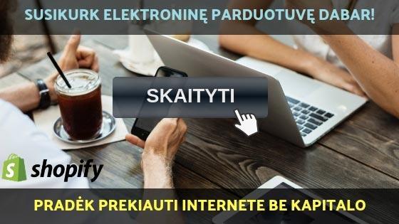 Shopify mokymai