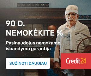 Credit24 - Pirma paskola nemokamai