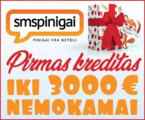 SMSPinigai - Pirmas Kreditas Nemokamai