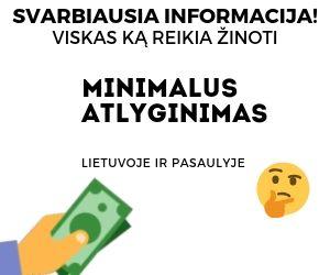 Minimalus Atlyginimas Lietuvoje ir Europoje 2020 m.