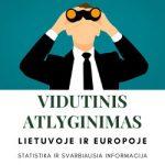 Vidutinis Atlyginimas Lietuvoje ir Europoje 2020-2021 m. Statistika
