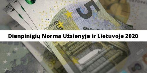 Dienpinigių Norma Užsienyje ir Lietuvoje 2020