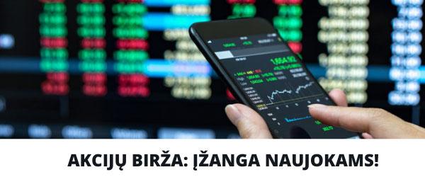 Akcijų birža naujokams
