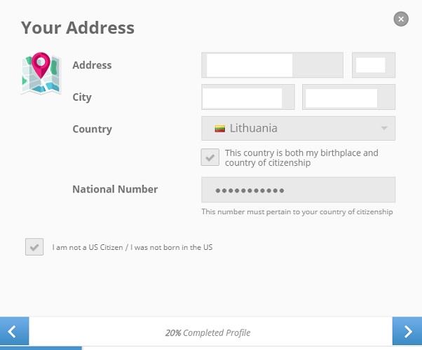 Registracija Etoro platformoje